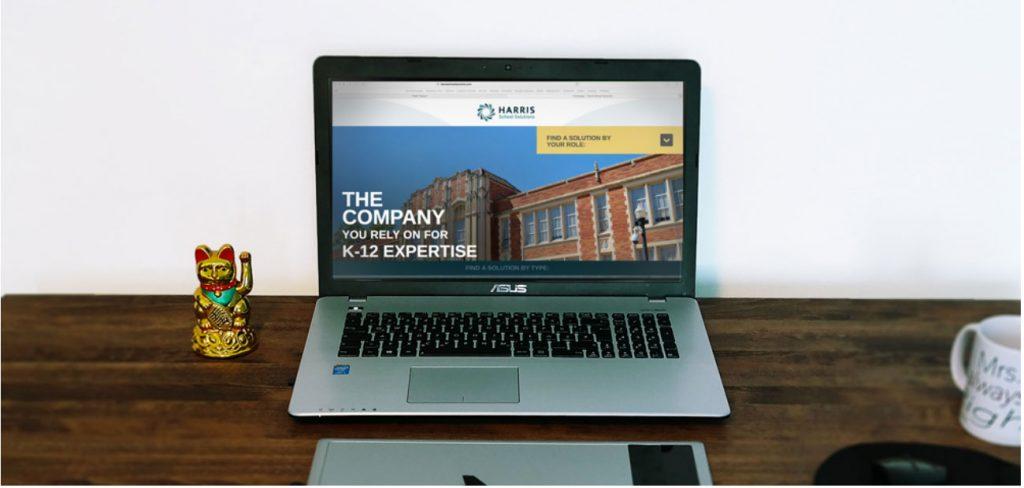Harris School Solutions Website Design