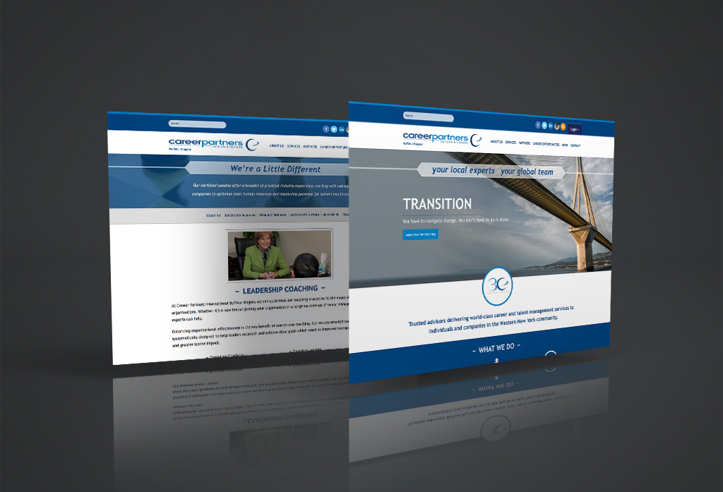 Career Partners International Website Design Mockup