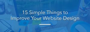 15 simple things to improve your web design