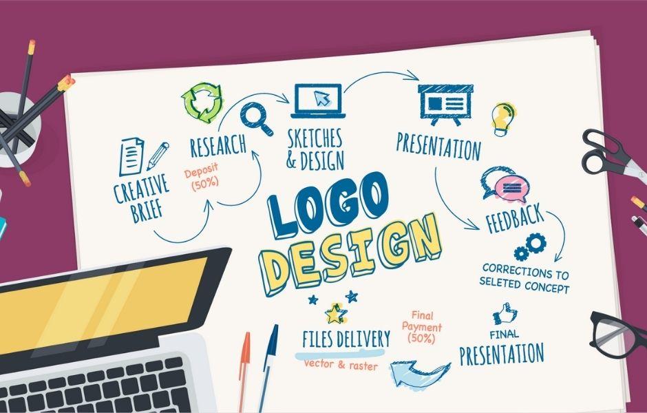 Logo design abstract illustration
