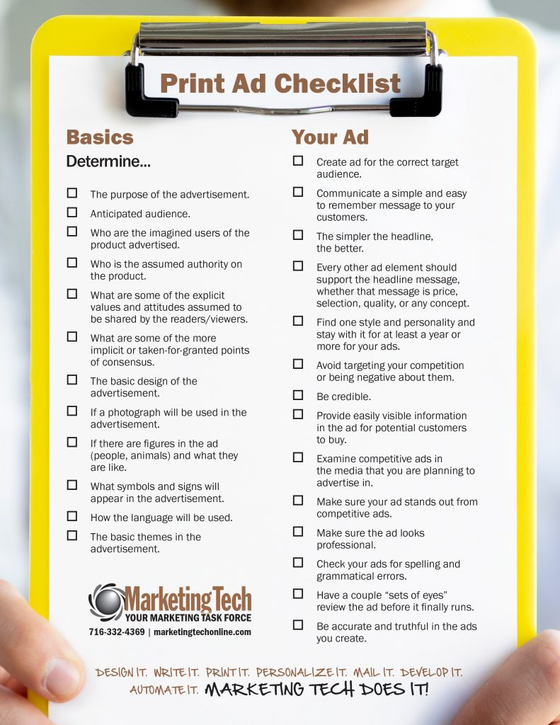 Peint Ad checklist preview