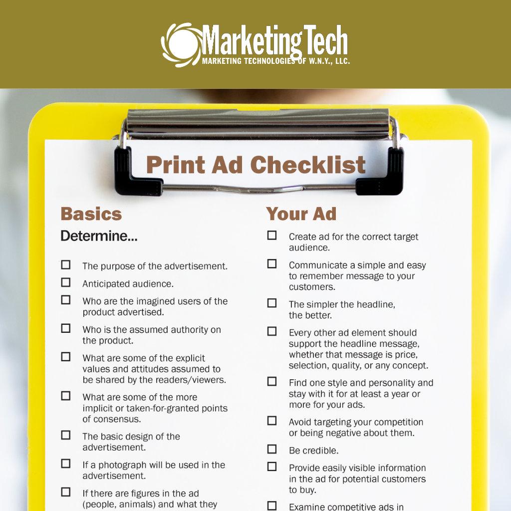 Print ad checklist page link