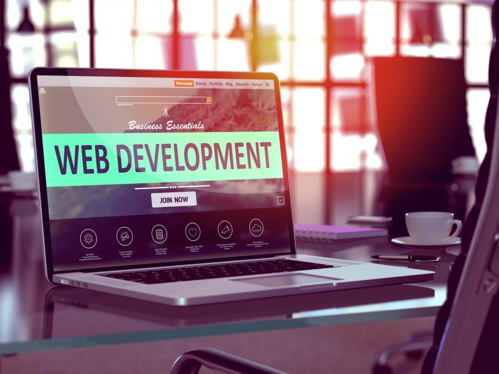 web design vs web development abstract graphic