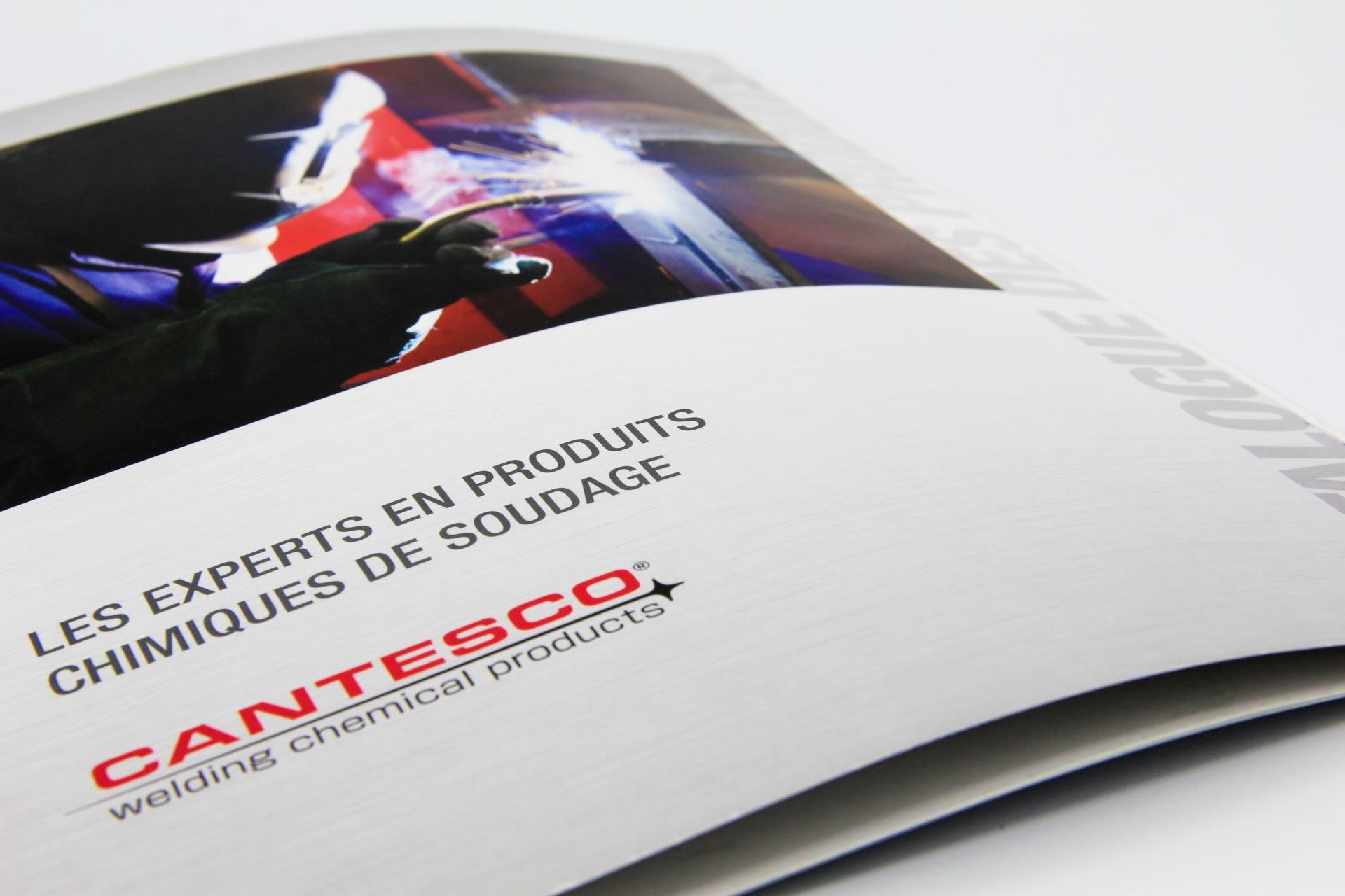 brochure close-up