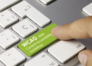 WCAG Web Content Accessibility Guidelines concept