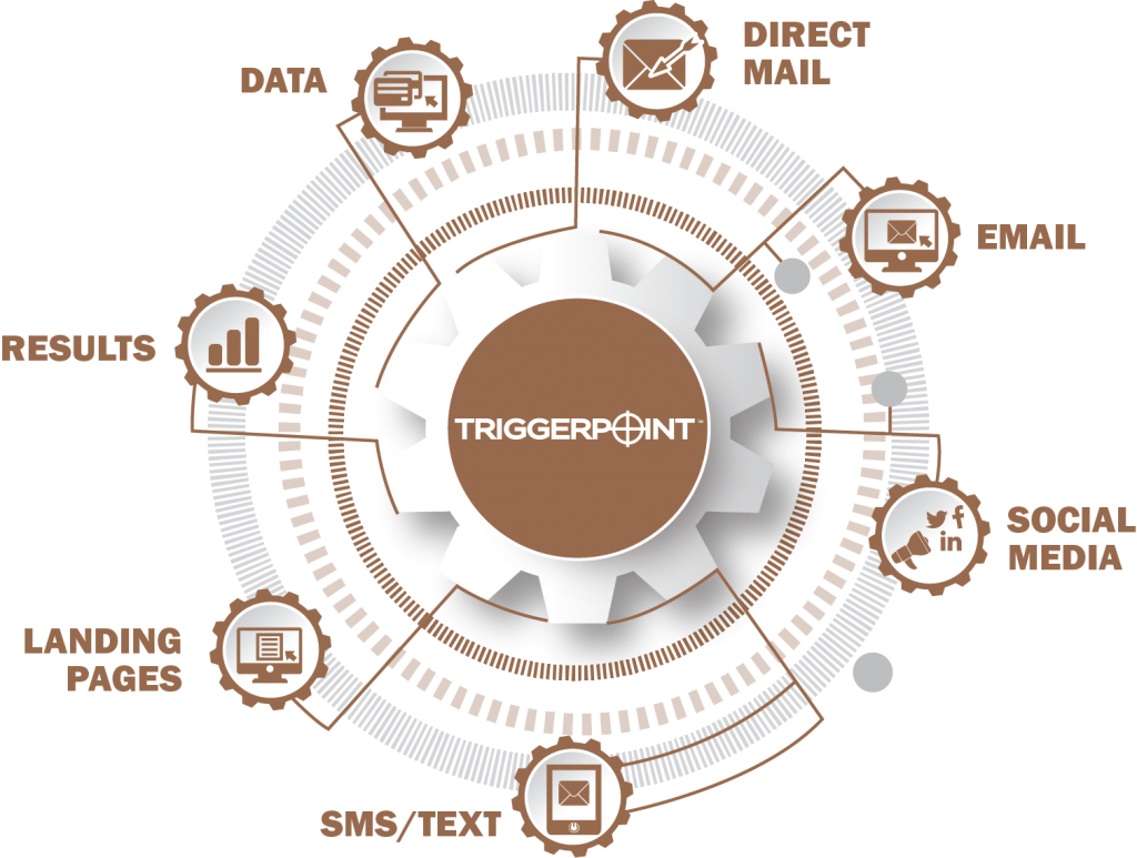 Triggerpoint Infographic. Integrated Marekting automation campaign concept