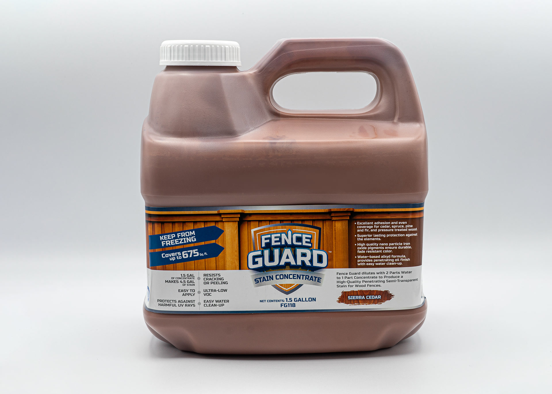 Fence Guard Stain Concentrate Sierra Cedar - Eco Chemical