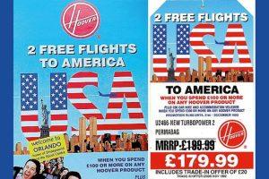 Hoover free flight ad