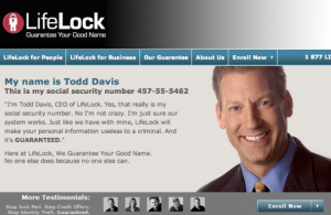 Lifelock social security advertisement
